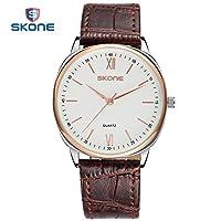 QTMIAO 美しいSKONE時計 BrandSKONEメンズウォッチ機能:シンプルなファッションダイヤル3ピンデザイン (Color : 4)
