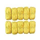 TRICOT CAFE' Oferta ovillos de algodón Stock en paquete de 10 unidades Made in Italy 100% algodón/amarillo 7228