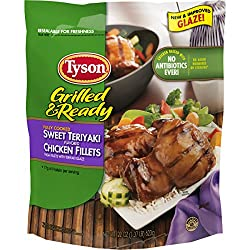 Tyson Grilled and Ready, Sweet Teriyaki Chicken Fillets, 22 Ounce (Frozen)