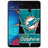 Designed for Samsung Galaxy A20/Samsung Galaxy A30 Case, Matte Black Cellphone,Football Phone Case, TPU Full Body Protection Shockproof Cover Protection Cover Drop Protection Shell-S187