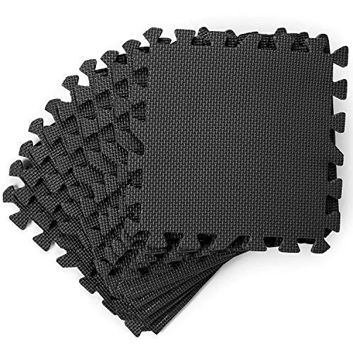 20 Unterlegmatten Schutzmatten, 30x30cm| Weich & Fest Eva-Schaum, rutschfest, Robust & Dick - Gummi Bodenschutzmatte Puzzlematte für Fitness Sport Gym Training Garage Pool Yoga Zuhause.