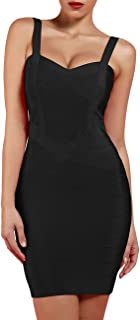 Women's Rayon Cute Mini Sleeveless Bodycon Club Party Bandage Strap Dress