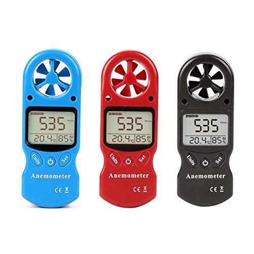 TL-300 Mini Mehrzweck-Anemometer Digital-Anemometer LCD-Windgeschwindigkeits-Temperatur-Feuchtigkeitsmesser mit Hygrometer-Thermometer - Schwarz