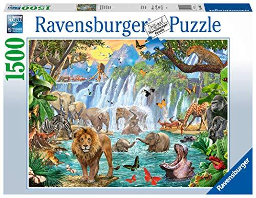 Ravensburger- Puzzle 1500 pièces-Cascade dans la Jungle Adulte, 4005556164615