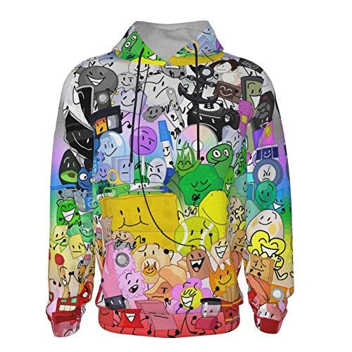 Battle-for-Bfdi Kids Hoodie, Lightweight Fleece Hooded Sweatshirt, with Pocket Pullover Hoodie for Boys Girls Black