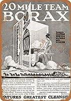 20ミュールチームBoraxティンサイン壁鉄絵レトロプラークヴィンテージ金属シート装飾ポスター面白いポスター吊り工芸用バーガレージカフェホーム