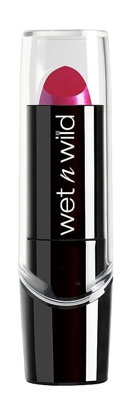 まろやかな商人洗剤WET N WILD New Silk Finish Lipstick Fuchsia w Blue Pearl (並行輸入品)