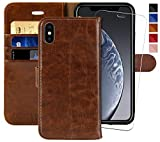 iPhone Xs Max Wallet Case,6.5-inch,MONASAY,[Glass Screen
