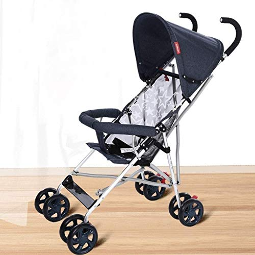 GPWDSN lichte buggys en kinderwagen, kinderwagen, draagbare vouwen, schokdempende mini paraplu optioneel 4 kleuren (kleur: grijs)