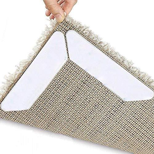 HCHD Wiederverwendbare Teppich Anti-Rutsch-Aufkleber waschbare Bandhauptdekoration Mats Corners Pad Unterstützung Fußbodenheizung und Warm Teppich