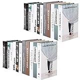 Hemoton Set di Libri Finti da 2 Pezzi Libri di Stile Moderno Artificiale Puntelli di Tiro Scaffale per Arredamento Display per Home Office Tea Shop (Stile 2)