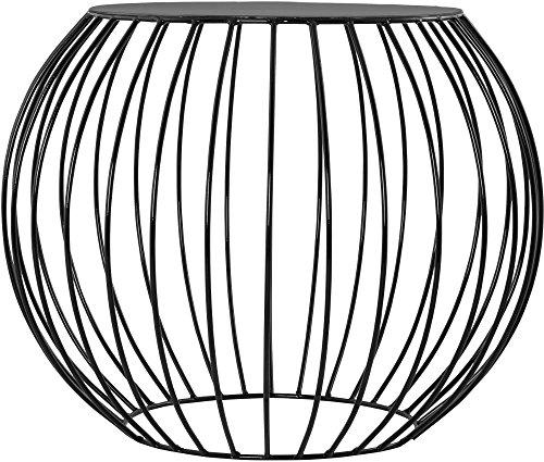 Kokoon Design Tavolino Rotondo Moderno in Alluminio Nero