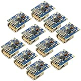 WMYCONGCONG 10 PCS 5V 1A Boost Step Up Power Supply Module Battery Charge Protection Board HT4928S DIY Charger LED Display USB and Micro Port