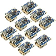 WMYCONGCONG 10 PCS 5V 1A Boost Step Up Power Supply Module Lithium Battery Charge Protection Board 134N3P DIY Charger LED Display USB and Micro Port