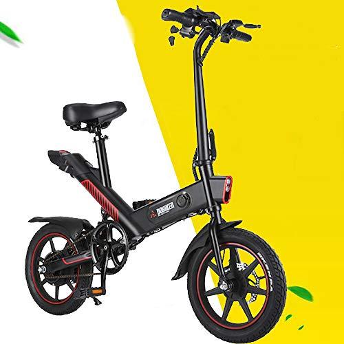 Freego Bici elettriche Pieghevole, Motore per Bicicletta Elettrica da 350W, Pneumatici da 14 Pollici per Mountain Bike, Regolazione della modalità a 3 velocità