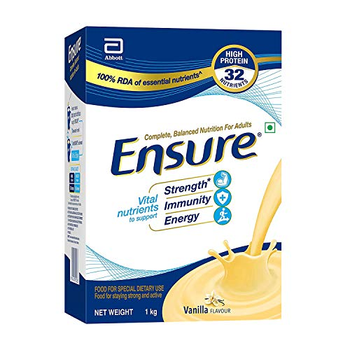 """Ensure Complete, Balanced Nutrition Drink For Adults With Nutri€"""" Strength Complex (Vanilla Flavour) 1Kg"""