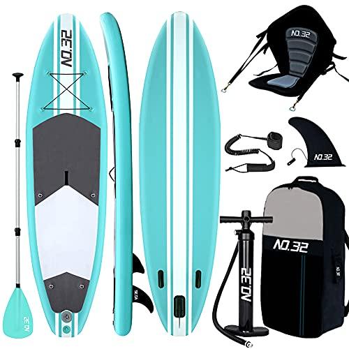 Tavola da SUP Stand Up Paddle Board Gonfiabile 10'(300x76x15cm-di Spessore) + Pagaia Regolabile |...