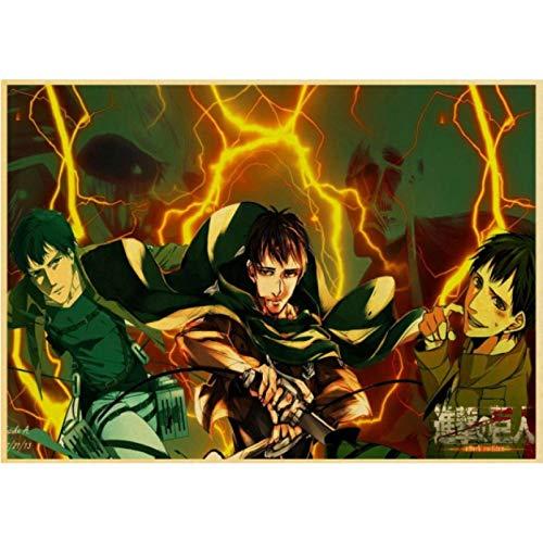Simayi Anime Angriff Auf Titan Retro Cartoon Malerei Wohnkultur Wanddekorationen Leinwand Wohnzimmer Art Decor Poster 50X70Cm Cdl-362