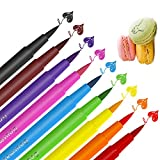 Food Coloring Markers Pens ValueTalks 9Pcs Food Grade Edible Markers Food Writer for Kids Cookies Decorating Cakes Fondant Painting Drawing Writing Fine Tip 9 Color