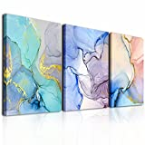 Abstract Wall Decor For Living Room Canvas Wall Art Paintings For Bedroom Colorful Color Abstract Wall Artworks Pictures For Office Kitchen Decoration Bathroom Home Decorations Art 3 Piece 12x16 Inch