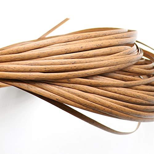 MBLUE 500 g de ratán sintético plano de ratán sintético tejido material de plástico punto de mimbre madera