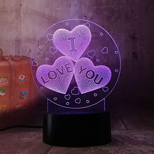 3D LED Ballonherz Nachtlicht, 7 Farben Touch-Schalter Nachtlicht Mit Fernbedienung und USB-Kabel, perfekte Geschenke für Kinder