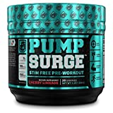 PUMPSURGE Caffeine-Free Pump & Nootropic Pre Workout Supplement, Non Stimulant Preworkout Powder &...