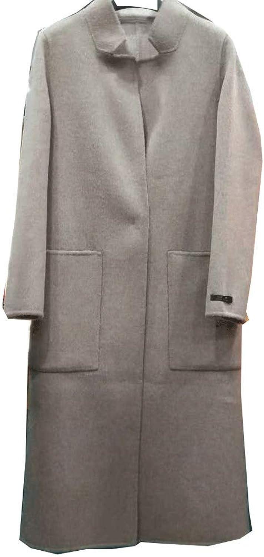 CG Women's Wool Winter Open Front Fleece Coat Cardigan Lapel Long Sleeve Longline Coat Plus Size G8070