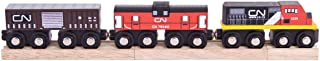 Bigjigs Rail Canadian National Train - Other Major Wooden Rail Brands are Compatible