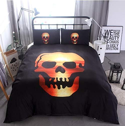 LJJYF Juego de Funda de edredón,3D Printed Polyester Cotton Skull Bedding Set, Double Duvet Cover and Pillowcase, Children's Bedroom, Super King-Sunset_135*200cm(2pcs)
