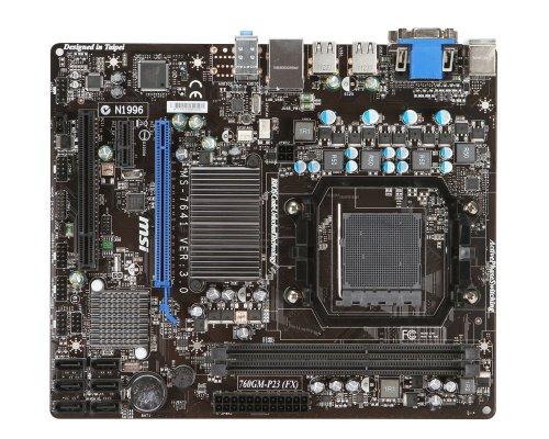MSI 760GM-P23 (FX) SockelAM3+ mATX AMD 760G + SB710 max 16GB 2xDDR3 1333/1066