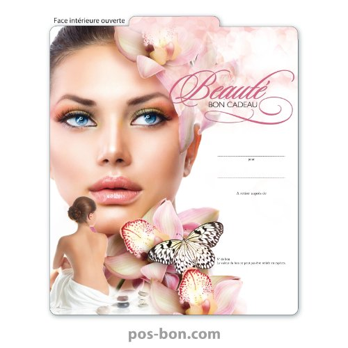 25 Bons cadeaux pour instituts de beauté KS266F