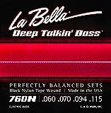 La Bella 760N/Deep Talkin' Bass/060-115/Black Nylon Tape Wound