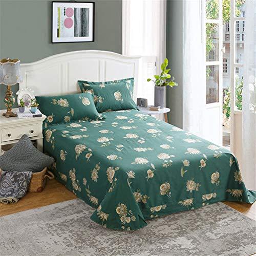 JWANS Bettbezüge aus Baumwolle Pastoral Floral Bettdecken ausgestattet Schlafzimmer Bettwäsche Einzel Doppel-Bettdecke