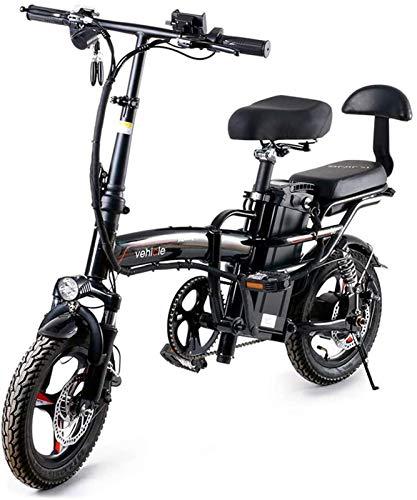 Bicicletas Eléctricas, Bicicleta plegable eléctrica Fat Tire Smart City Montaña Booster bicicletas for adultos, 400W aleación de aluminio de la bicicleta con el montar a caballo de 3 modos de altura a