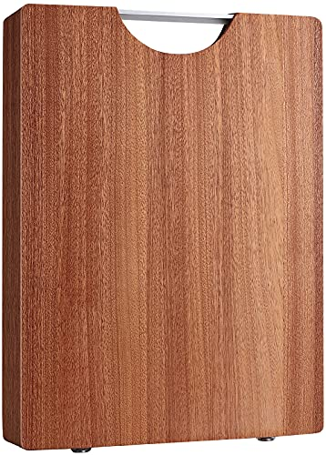 Wood Cutting Boards for Kitchen (XXL, 15.8 x 11.8 ), Harwood Meat Chopping Block Thick, Natural Wooden Butcher Block for Vegetable, Cheese and Fruit with an Easy-grip Handle