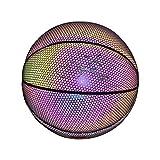 Leuchtende Nummer 7 Basketball,Leuchtender Basketballball Batterieloser PU-Leuchtender Basketball...