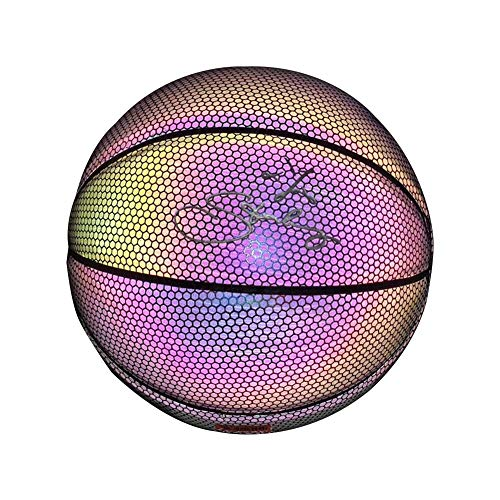 Read About hemistin Light Up Basketball - Battery-Free PU Glow in The Dark Basketball Fluorescent Br...