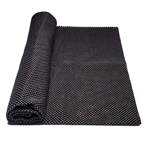 Lawei Antirutschmatte Antirutschteppich Abwaschbar Zuschneidbar Kofferraummatte Rutschunterlage für Auto Kofferraum Küche - 90 x 100 cm, Schwarz