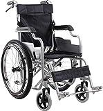 XXY.XXY Rollstuhl Leichte Rollstuhl 14Kg Faltbare Transport Medizinische Komfortable Armlehne Rückenlehne Sitz Schaukel Beinstütze 100Kg Tragfähigkeit 38 * 40Cm Sitz & Ergonomischer Rollstuhl, A -