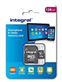 Integral 128 GB microSDXC Class 10 Memory Card for Smartphones and Tablets up