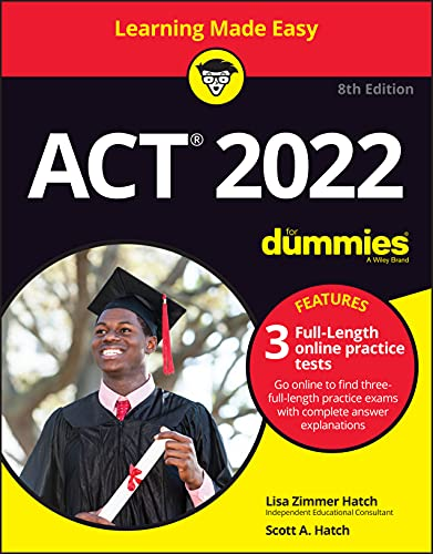 ACT 2022 For Dummies with Online Practice (ACT for Dummies)