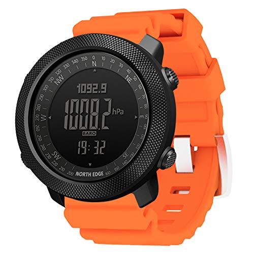 Wan&ya Reloj Inteligente para Deportes al Aire Libre, Reloj Digital Multifuncional Relojes Militares para Hombres Altímetro Barómetro Brújula Reloj Impermeable para montañismo y natación,N