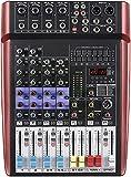 Boytone BT-66MX- 6 Channel Bluetooth Studio Audio Mixer - DJ Sound Controller Interface with USB Port, AUX Jack, 4 XLR Microphone Jack, 48V Power, 16 DSP Effect, Input/output for Professional user