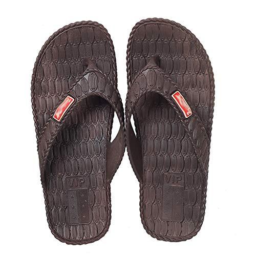 N/A 10 Yards / 27cm einfache Hausschuhe Indoor Hause Bad Freizeit wasserdicht Clip Füße Strand Flip-Flops Männer atmungsaktiv Sandalen ziehen rutschfest