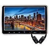 WZMIRAI A 10,1 pouces Écran LCD haute définition TFT LCD Chargeur de voiture ultra mince portable Lecteur DVD multimédia Moniteur de repose-tête mobile avec port HDMI et télécommande
