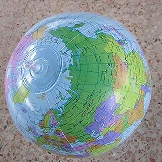 يوتيك - لعبة كرات - لعبة الكرة الأرضية القابلة للنفخ على مستوى العالم للتعليم الجغرافي خريطة بالون كرة شاطئ للعب في الهواء...