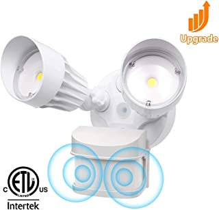 CINOTON 36W LED Flood Security Motion Sensor Light Outdoor[250W Equivalent], Dusk to Dawn Wall Mount,Double Motion Sensor,Waterproof IP65,3000 Lumens,5000K, Adjustable Dual Head Motion- Activated