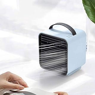 Mini refrigerador evaporativo del aire, recargable de escritorio del ventilador del aire acondicionado, 3-Speed Cold Ajuste de aire, tanque de agua de 150 ml, 2000 mAh de la batería, for el Minister