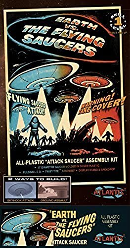 nuevo sádico Earth vs vs vs The Flying Saucers UFO 2nd Edition 5-Inch Model Kit with Light by Atlantis Toy and Hobby  Con 100% de calidad y servicio de% 100.
